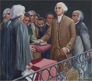 "Mort Kunstler Hand Signed and Numbered Limited Edition Canvas Giclee:""Old Glory"""