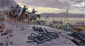 "Mort Kunstler Handsigned and Numbered Limited Edition Print:""Washington's Watch Chain"""