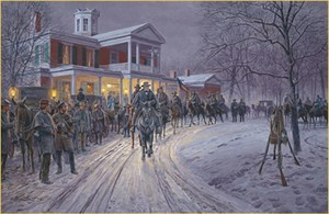 "Mort Kunstler Handsigned & Numbered Limited Edition Print: ""Merry Christmas General Lee"""