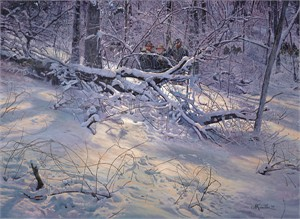 "Mort Kunstler Handsigned & Numbered Limited Edition Print:""So Close to the Enemy"""