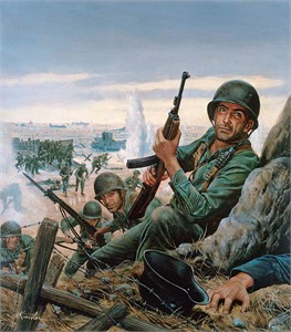 "Mort Kunstler Handsigned and Numbered Limited Edition Giclee on Canvas:""D-Day"""