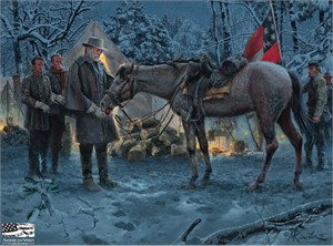 "Mort Künstler Hand Signed and Numbered Limited Edition 2014 Official Snow Print:""An Apple for Traveller"""