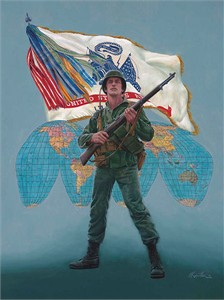 "Mort Kunstler Handsigned and Numbered Limited Edition Giclee on Canvas:""This We'll Defend"""