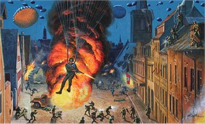 "Mort Kunstler Handsigned and Numbered Limited Edition Giclee Print on Canvas:""Victory Rode the Rails"""