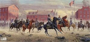 """Mort Kunstler Handsigned & Numbered Limited Edition Giclee on Canvas:""""Are You Hurt, Sir (Gens. Gordon and Ewell Gettysburg, July 1, 1863)"""""""