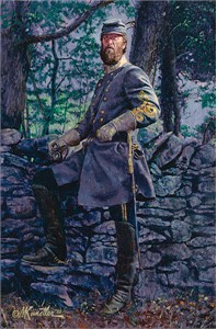 "Mort Kunstler Handsigned & Numbered Limited Edition Four Generals Print:""Stone Wall"""
