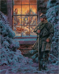 "Mort Künstler Hand Signed and Numbered Limited Edition 2011 Official Snow Print:""...How Real Soldiers Live"""