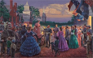 "Mort Kunstler Handsigned & Numbered Limited Edition  Giclee on Canvas :""Before the Ball """