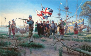 "Mort Kunstler Handsigned & Numbered Limited Edition Print:""The New World"""