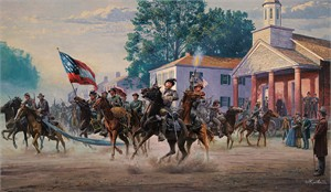 """Mort Kunstler Limited Edition Artist Proof Print:""""Morgan's Ohio Raid"""""""