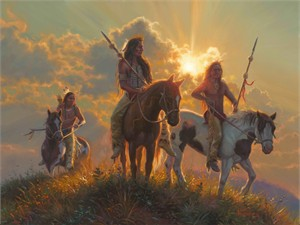 "Mark Keathley Hand Signed and Numbered Limited Edition Embellished Canvas Giclee:""Band of Brothers"""