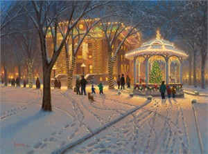 """Mark Keathley Handsigned and Numbered Limited Edition:""""Christmas at the Courthouse"""""""