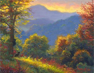 "Mark Keathley Hand Signed and Numbered AP Limited Edition Embellished Canvas Giclee:""The View"""