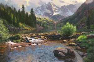 "Mark Keathley Handsigned and Numbered Limited Edition:""Rocky Mountain Grandeur"""