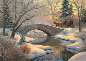 "Mark Keathley Handsigned & Numbered Limited Edition Embellished Canvas Giclee:"" Evening Romance"""