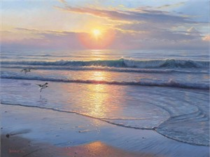 """Mark Keathley Hand Signed and Numbered Limited Edition Embellished Canvas Giclee:""""Serenity """""""