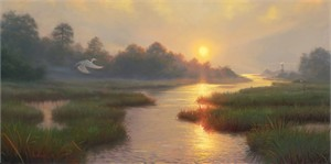 "Mark Keathley Hand Signed and Numbered Limited Edition Embellished Canvas Giclee:""Sanctuary"""