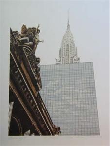 "Joan Melnick Hand Signed Publisher Proof Lithograph:""Grand Hyatt"""