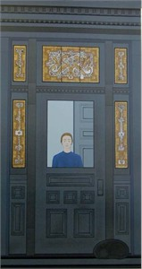 "The Doorway Hand Signed Publisher Proof Lithograph with metallic silkscreen:""Will Barnet"""