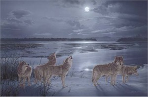 """Daniel Smith Limited Edition Canvas:""""Moon Song"""""""