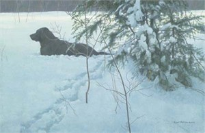 "Robert Bateman Hand Signed and Numbered Limited Edition Giclee Canvas: ""Off the Leash"""