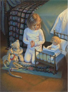 """Kathy Lawerence Hand Signed and Numbered Limited Edition Print: """"The Lords Blessing"""""""