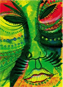 """Charles Bibbs Hand Signed and Numbered Limited Edition Print:""""Todays Mask """""""