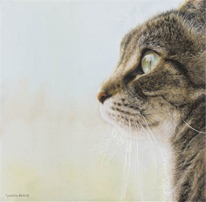 """Sueellen Ross Handsigned and Numbered Limited Edition Renaissance Giclee on Canvas:""""JUST LOOKING """""""