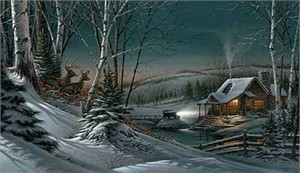 """Terry Redlin Hand Signed and Numbered Legacy Canvas Edition: """"Evening with Friends"""""""