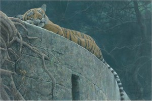 "Robert Bateman Limited Edition Giclee Canvas:""Old  Fort Tiger"""