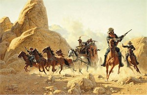 "Frank McCarthy Hand Numbered Limited Edition Canvas Giclee:""Ambush"""