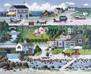 """Charles Wysocki Limited Edition Print: """"Crickethawk Harbor"""""""