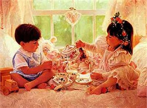 "Jean Monti Limited Edition Print: ""Two for Tea"""