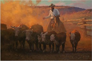 "Bill Owen Hand Numbered Limited Edition Canvas Giclee:""Dusty Work """
