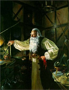 """Dean Morrissey Limited Edition Print: """"Tending the Star Furnace"""""""