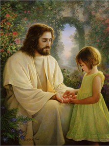 """Greg Olsen© Hand Signed and Numbered Limited Edition Canvas:""""I Feel My Saviors Love"""""""