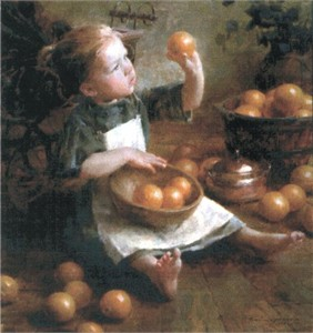 "Morgan Weistling Limited Edition Giclee Canvas""The Fruit Inspector"""