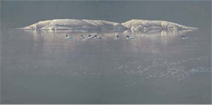 "Robert Bateman Handsigned & Numbered Limited Edition Print:""Loon Gathering at Big East """