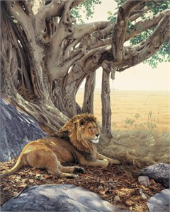 """Daniel Smith Handsigned & Numbered Limited Giclee on Canvas:""""Savanna Sanctuary """""""