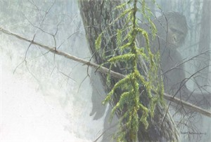 "Robert Bateman Handsigned & Numbered Limited Edition:""Sasquatch - Sold Out"""