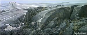 """Robert Bateman Handsigned & Numbered Limited Edition:""""Artic Landscape - Polar Bear"""""""