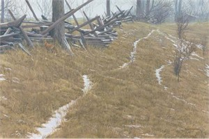 "Robert Bateman Handsigned and Numbered Limited Edition:""Pasture Trails – Red Fox """
