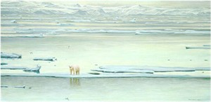 "Robert Bateman Limited Edition Paper Print:""Arctic Ice-Polar Bear"""