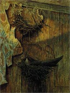 "Robert Bateman Limited Edition Paper Print:""Chimney Swift On Nest"""