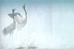 "Robert Bateman Limited Edition Canvas:""Cries Of Courtship"""