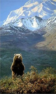 "John Seerey-Lester Handsigned and Numbered Renaissance Edition Giclée Canvas:""High Country Champion - Grizzly"""