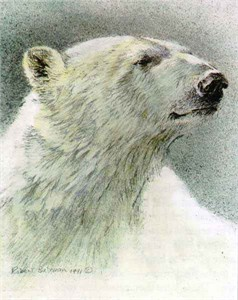 "Robert Bateman Limited Edition Paper Print:""Polar Bear - Predator Portfolio - Set of 3"""