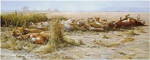 "John Seerey – Lester Limited Edition Print:""Savanna Siesta - African Lions"""