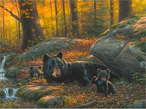 """Abraham Hunter Hand Signed and Numbered Limited Edition Embellished Canvas Giclee:""""Playtime"""""""