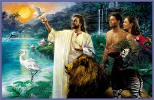 "Nathan Greene Limited Edition Canvas Giclee:""First Sabbath in Eden"""